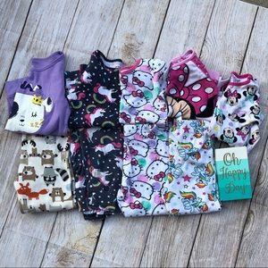 2/$8 4T Pajama Lot/ 5 shirt and 4 pants. 2 matches